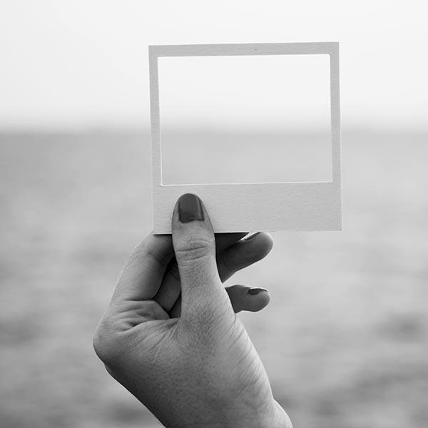 Leeres Polaroid